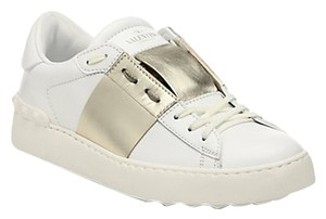 Valentino Patent Leather Rock Stud white gold Athletic