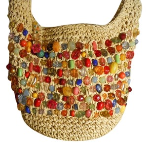 Capelli New York Straw Hobo Bag