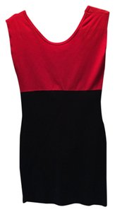 American Apparel short dress black and red on Tradesy