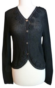 Anne Klein Crochet 3/4 Sleeve Cardigan