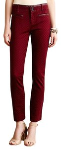 Anthropologie Cartonnier Ankle Skinny Pants red