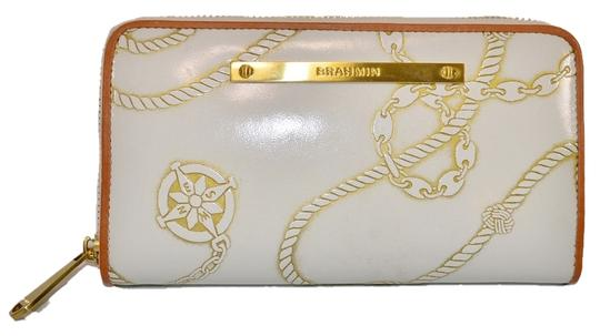 Brahmin Nautical Wallet Leather white Clutch