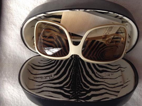 Roberto Cavalli White Roberto Cavalli Sunglasses with Gold Accents