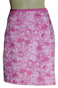 Lilly Pulitzer Pencil Lined Mini Skirt Pink