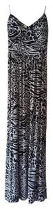 black, white Maxi Dress by Guess