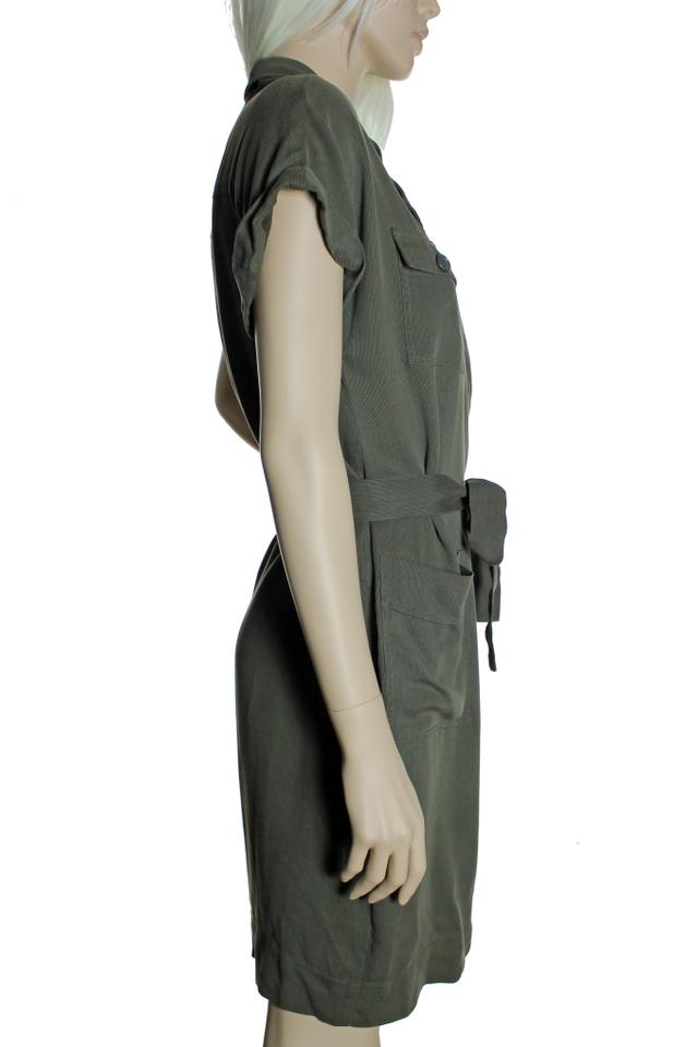 J.Crew Army Green Lyocell Fine Corduroy Faux Wrap Belted Knee Length Short Casual  Dress Size Petite 4 (S) - Tradesy 27ea656d5