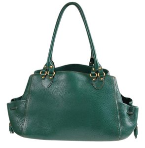 Cole Haan Leather Fall Satchel in Hunter Green