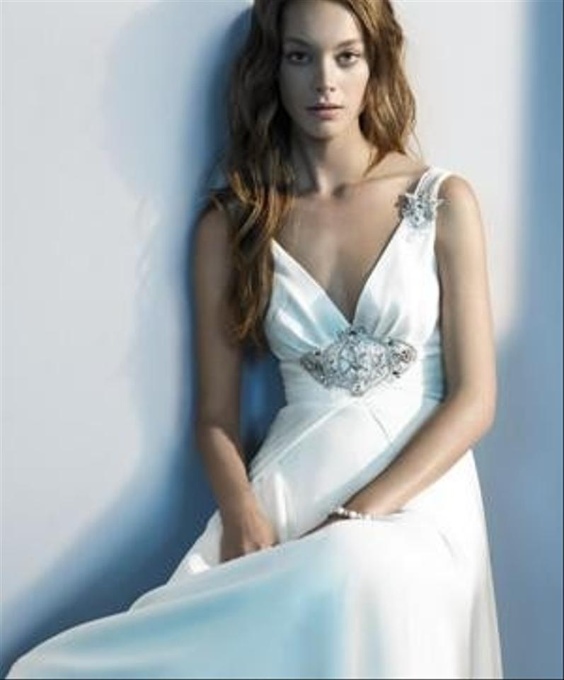 Jenny Packham White Silk Elizabeth Vintage Wedding Dress Size 10 (M ...