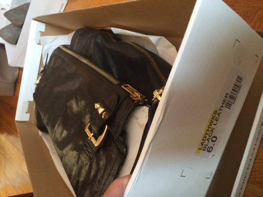 Steve Madden Black and Gold Boots