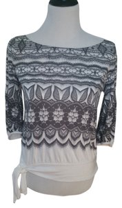 Anthropologie Top white & gray