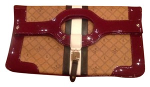 L.A.M.B. Brown/Maroon Clutch
