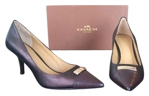 Coach Chestnut/ Bronze Pumps