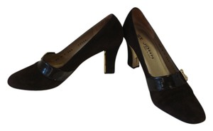 St. John Narrow Suede BROWN Pumps