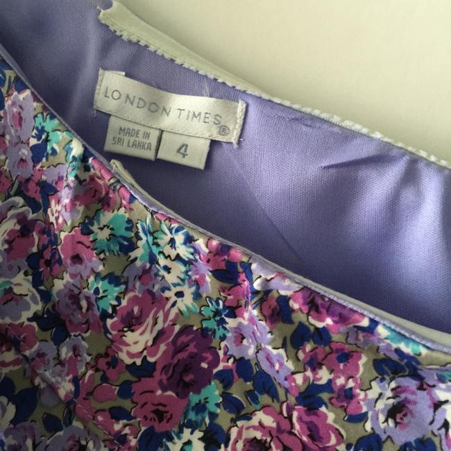 London Times short dress Lavender on Tradesy