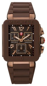 Michele Brand New Michele Jelly Bean PARK rose gold/ brown watch
