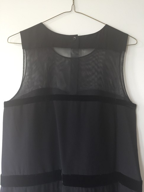 See by Chloé Sheer Sleeveless Evening Sweetheart Dress