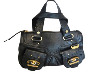 Charles David Satchel in Black with Gold Hardware
