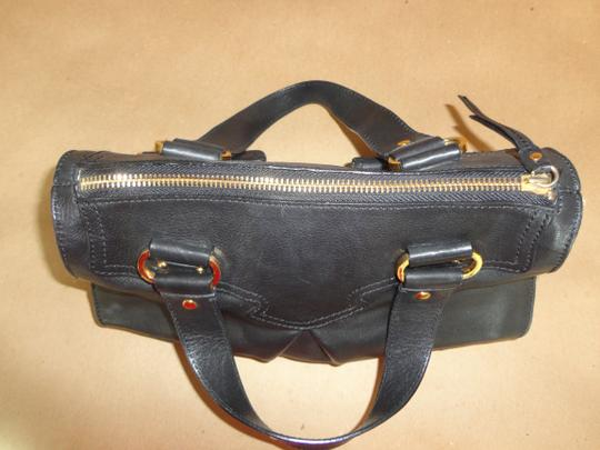 Charles David Satchel in Black Leather with Gold Hardware