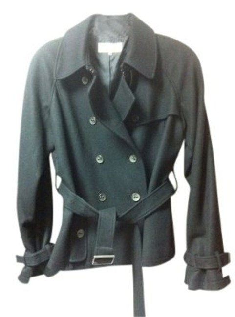 Preload https://item2.tradesy.com/images/calvin-klein-black-wool-short-belted-trench-size-12-l-5646-0-0.jpg?width=400&height=650
