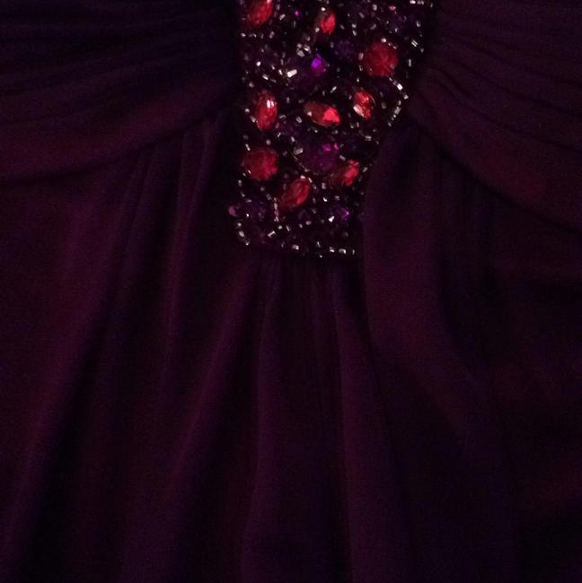 Joanna Chen Gown Cocktail Stones Red Fancy Party Dress