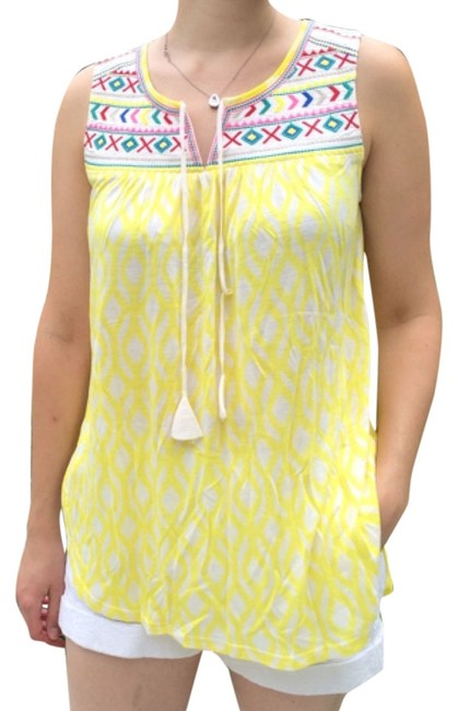 Preload https://item4.tradesy.com/images/anthropologie-yellow-multi-tank-topcami-size-6-s-5646388-0-0.jpg?width=400&height=650