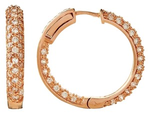 Kenneth Jay Lane Kenneth Jay Lane Pave Hoop Earrings