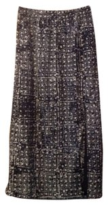 Michael Kors Maxi Skirt Navy Multi