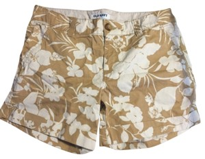 Old Navy Mini/Short Shorts Tan and off white