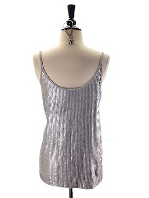 Vince Matte Sequined Long Top Gray