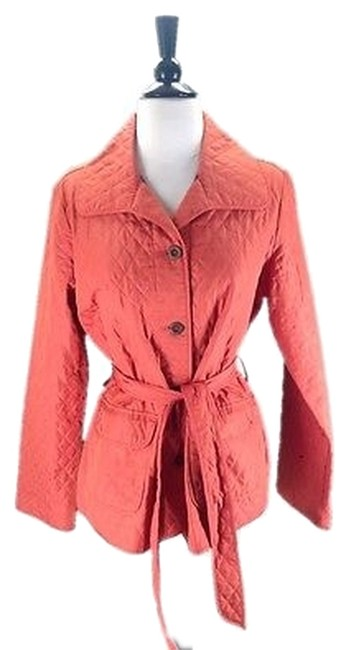 Rebecca Taylor Lightweight Quilted Oranges Jacket