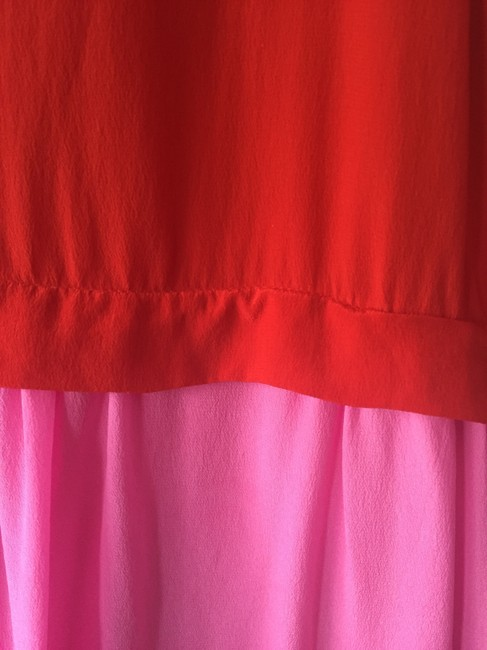 French Connection short dress Red, Pink Summer Color-blocking Silk on Tradesy