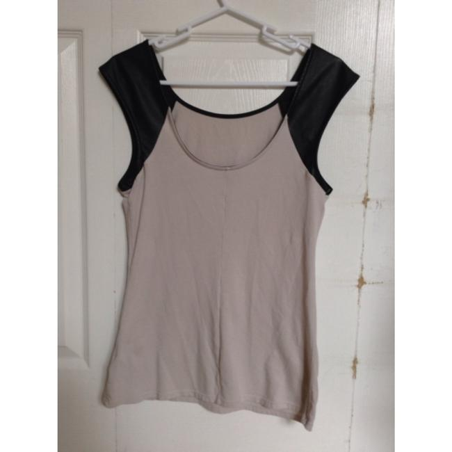 Express Top Beige and black