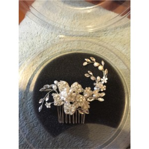 David's Bridal Silver and Ivory Hair Accessory