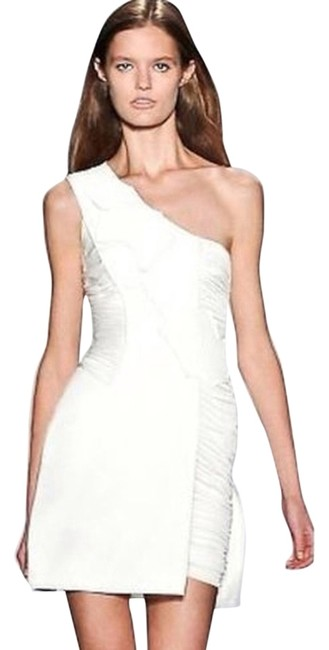 BCBGMAXAZRIA Asymmetrical Hem Runway Limited Edition Wedding Little Dress