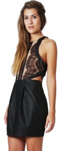 Three Floor Cutaway Eyelash Lace Dress