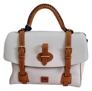 Dooney & Bourke Satchel in White/Tan