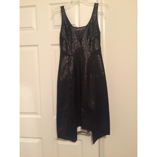 BCBGMAXAZRIA Bcbg Max Azria N W T New With Tags Fatale Sequin Sequence Sequince Lbd Little Semi Formal Sexy Mesh Cut Out High Low Dress