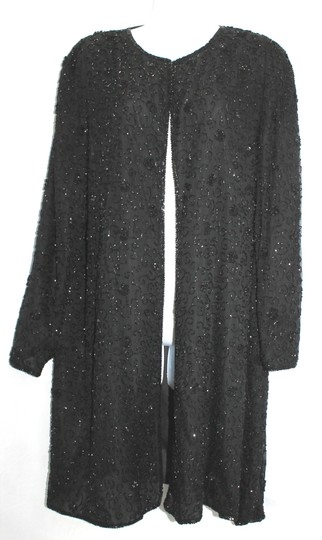 Black Silk Formal Dress Size 12 (L)