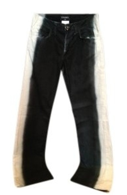 Preload https://img-static.tradesy.com/item/5650/chanel-black-and-white-coated-women-s-pant-two-tone-size38-straight-leg-jeans-size-27-4-s-0-0-650-650.jpg