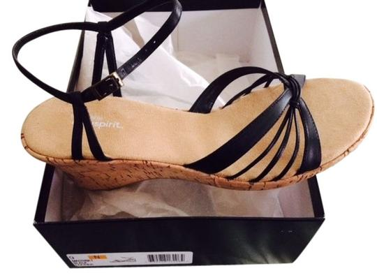 Easy Spirit Black Wedges