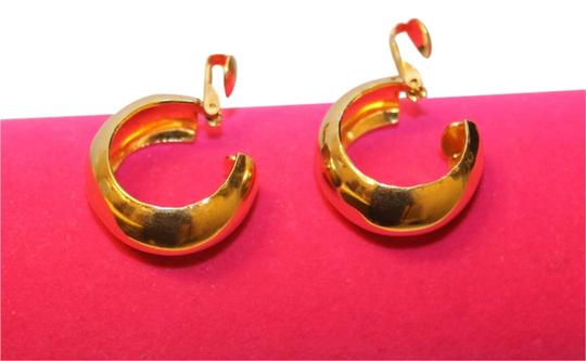 Other Gold Clip On Hoops
