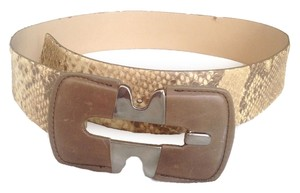 fransesco biasia Fransesco Biasia Genuine Snakeskin Leather Belt