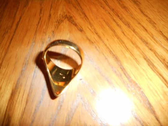 """Katie Rowland Katie Rowland """"Lillith Fang"""" Ring - Yellow Gold Plated Size 7"""