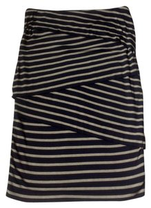 Bailey 44 Anthropologie Skirt Navy and Tan
