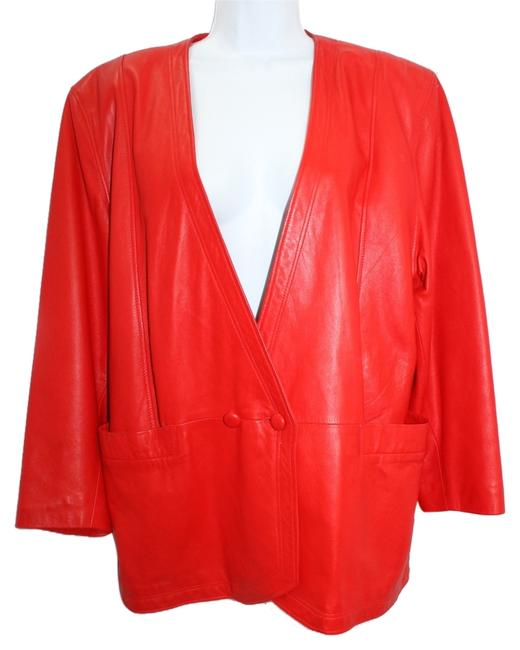 Item - Red Soft and Supple 42 Jacket Size 8 (M)