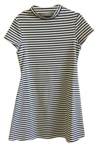 Free People short dress White and Gray Short Midthigh Striped Cotton on Tradesy