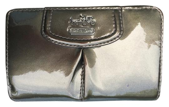 Coach Coach Madison Pewter Patent Leather Medium Wallet 46617