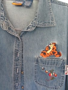 Pooh Top blue denim