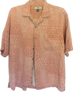 Tommy Bahama Top burnt orange with print