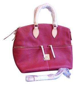 Dooney & Bourke Dillen Pocket Dillen Leather Satchel in Red